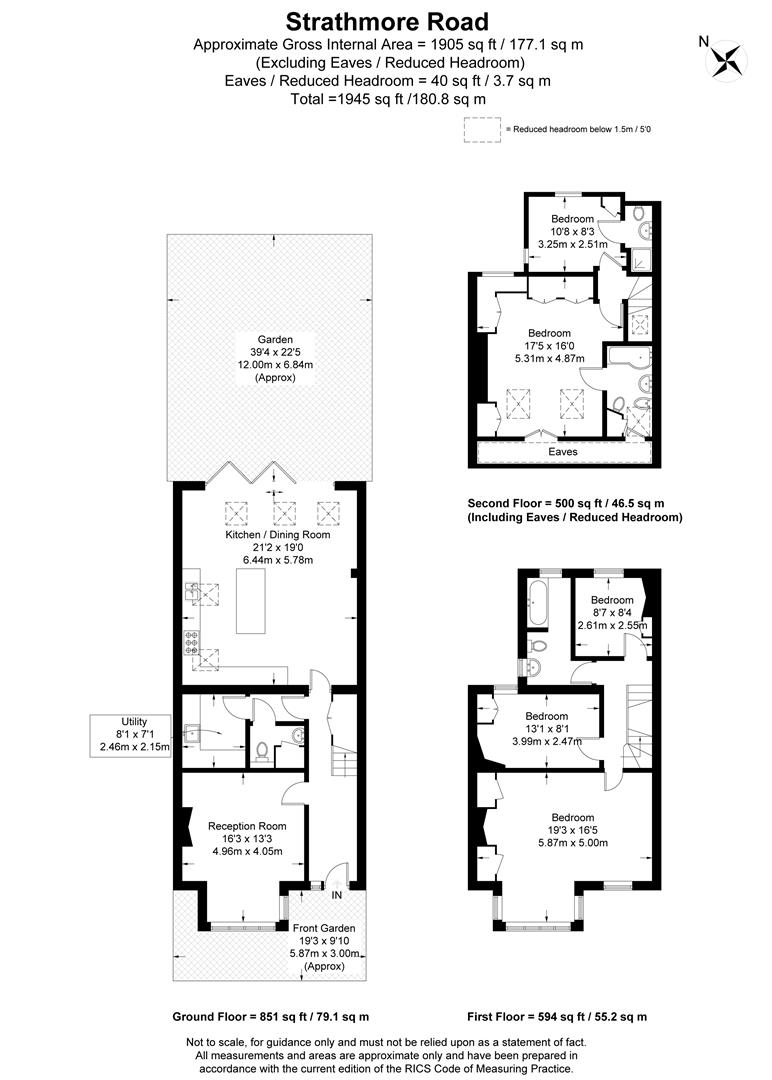 Floorplan for Strathmore Road, Wimbledon Park